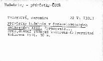 Přírůstky hudebnin v československých knihovn