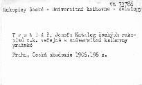 Katalog českých rukopisů c. k. veřejné a universitní knihovny pražské