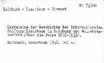 Marksteine der Geschichte der internationalen Stifttung Mozarteum in Salzburg