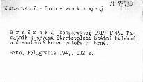 Brněnská konservatoř 1919-1945