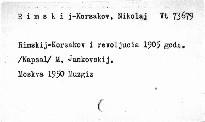Rimskij-Korsakov i revoljucija 1905 goda
