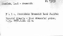 Dramatik Leoš Janáček