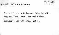 Béla Bartók.Weg und Werk.Schriften und Briefe