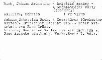 Johann Sebastian Bach.Vier Ouvertüren (Orches