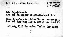 Johann Sebastian Bach.Die Orgelchoräle aus de
