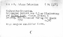 Johann Sebastian Bach. Weihnachts-oratorium