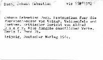 J. S. Bach: Festmusiken für die Fürstenhauser von Weimar, Weissenfelds und Koethen