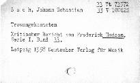 Johann Sebastian Bach.Trauungskantaten
