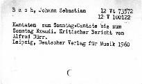 J. S. Bach: Kantaten zum Sonntag