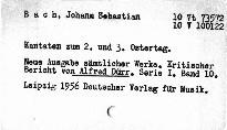 J. S. Bach: Kantaten zum 2. und 3. Ostertag