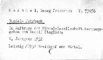 Händel-Jahrbuch 1932