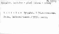 Ladislav Vycpálek k sedmdesátýmpátým narozeninám