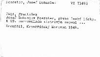 Jos. B. Foerster pěvec české lásky