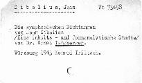 Die symphonischen Dichtungen von Jean Sibeliu