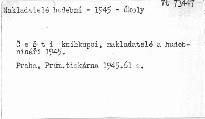 Čeští knihkupci,nakladatelé a hudebnináři1945