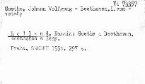 Goethe a Beethoven - Beethoven a ženy