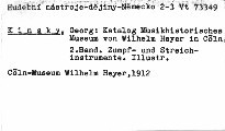Katalog des Musikhistorischen Museums von Wil