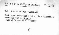 W. A. Mozart in der Hausmusik