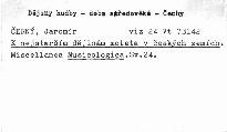 Miscellanea Musicologica                         (Sv. 24)