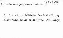 Miscellanea Musicologica