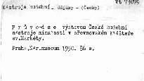 České hudební nástroje minulosti