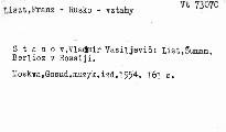 List, Šuman i Berlioz v Rossii