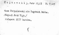 Wenn Tschaikowski ein Tagebuch geführt hätte