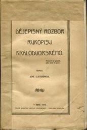 Dějepisný rozbor Rukopisu Kralodvorského
