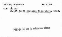 Dějiny ruské sovětské literatury