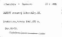 Dejiny svetovej literatúry.