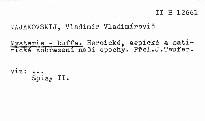 Spisy                         ([Sv.] 2)