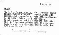 Tisíc let české poezie                         ([Díl] 1)