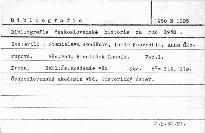Bibliografie československé historie za rok