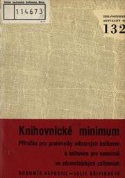 Knihovnické minimum.