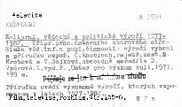 Kulturní, vědecká a politická výročí 1977-82.