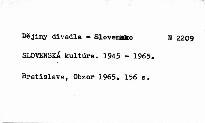 Slovenská kultúra