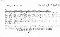 Česká literární bibliografie 45-63.Díl 1.                         (Díl 1)