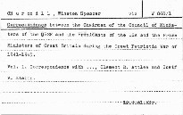 Correspondence between the Chairman of the Co