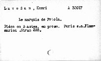 Le marquis de Priola