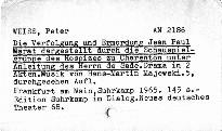 Die Verfolgung und Ermordung Jean Paul Marat