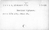 Monsieur Alphonse