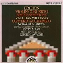 Koncerty, housle, orchestr, op. 15, d moll; Simple symphony, op. 4