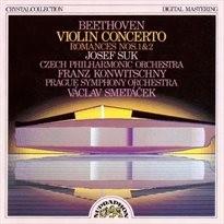 Koncerty, housle, orchestr, op. 61, D dur; Romance, housle, orchestr, č. 2, op. 50, F dur; Romance, housle, orchestr, č. 1, op. 40, G dur