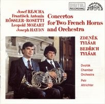 Concertos for 2 french horns and orchestra