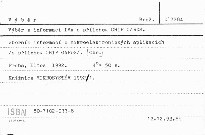 Výběr z informací IMA s přílohou CHIP CARDS