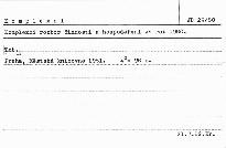 Komplexní rozbor činnosti a hospodaření ze r. 1980