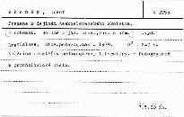 Pramene k dejinám československého školstva