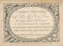 3 sonates pour le clavecin ou forte-piano dont la 3sieme est a 4 mains