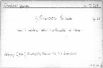 7. quintetto Es dur pour 2 violons, alto, violoncello et basso, op. 23