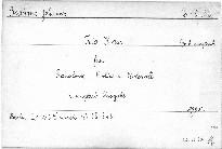 Trio H dur für Pianoforte, Violine und Violoncell